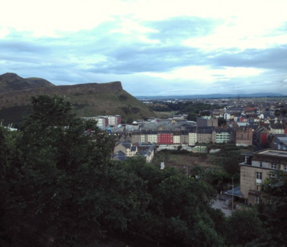 Holyrood Park from Regent Park