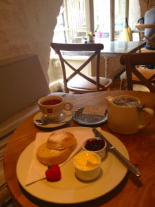 Cream Tea - Riverside Cafe, Bath
