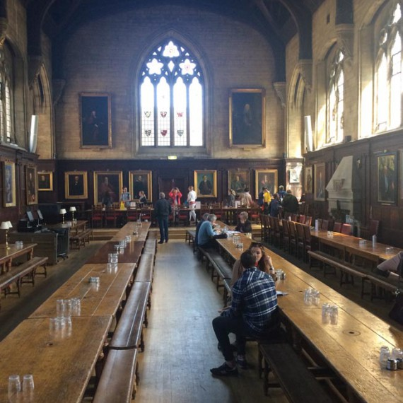 Oxford Balliol dining hall