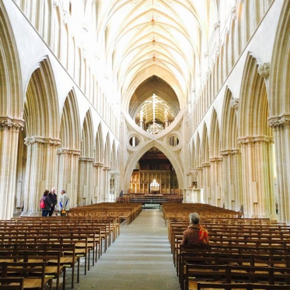 Somerset Wells cathedral nave