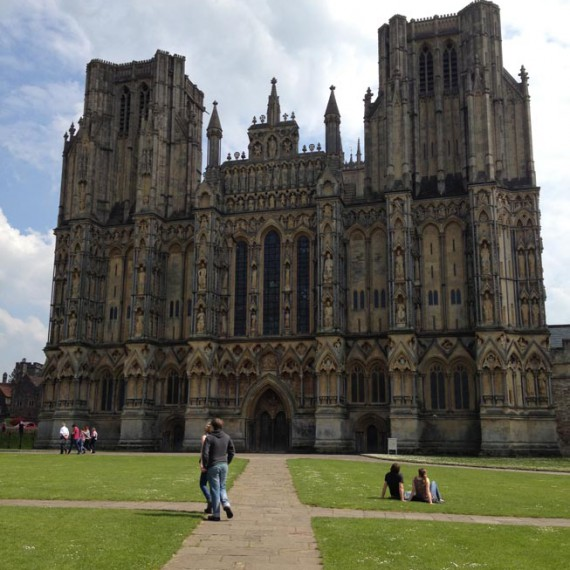 Somerset Wells cathedral west front