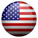 United States flat flag icon